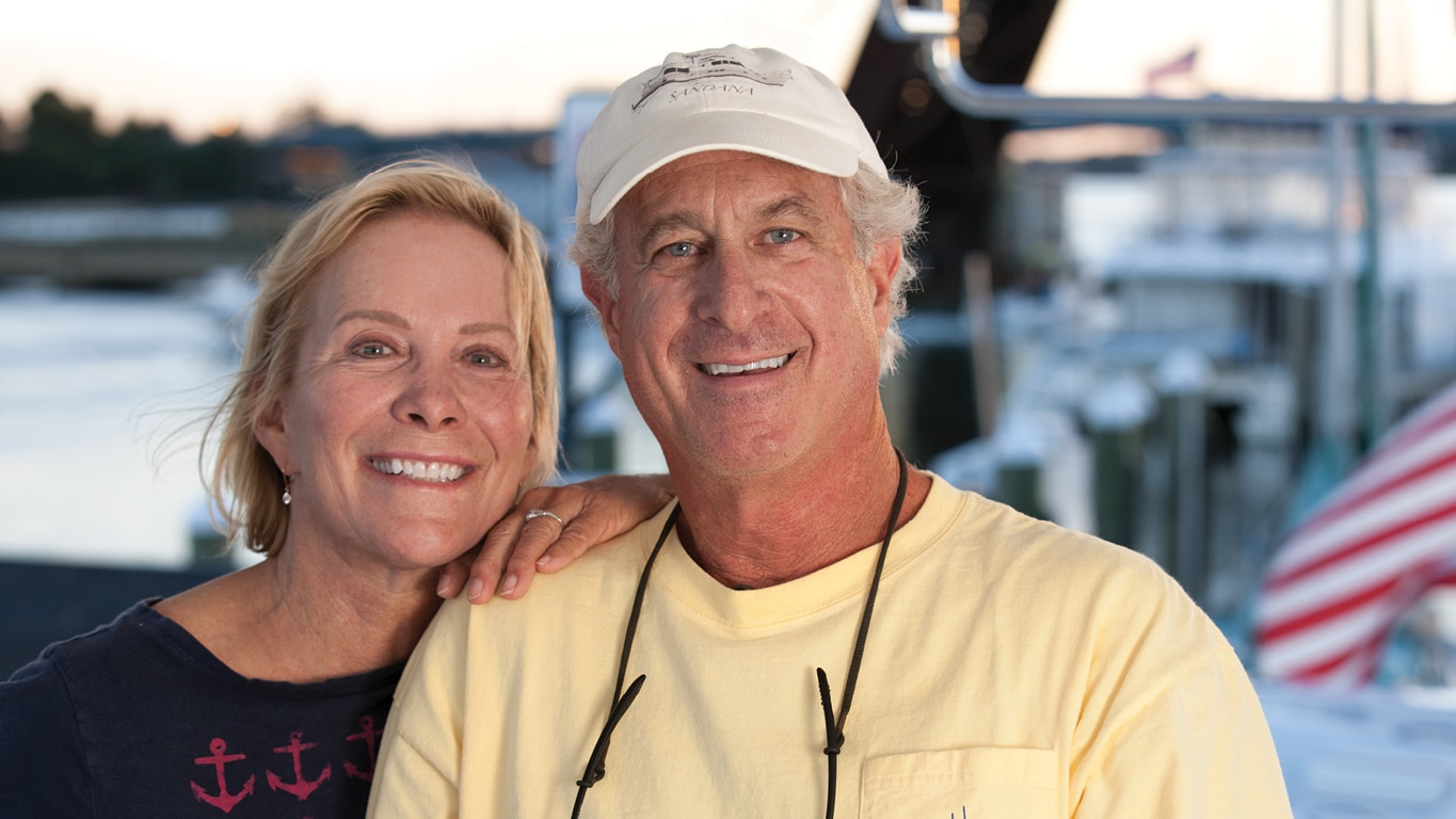 Dan and Sandy, yacht owners
