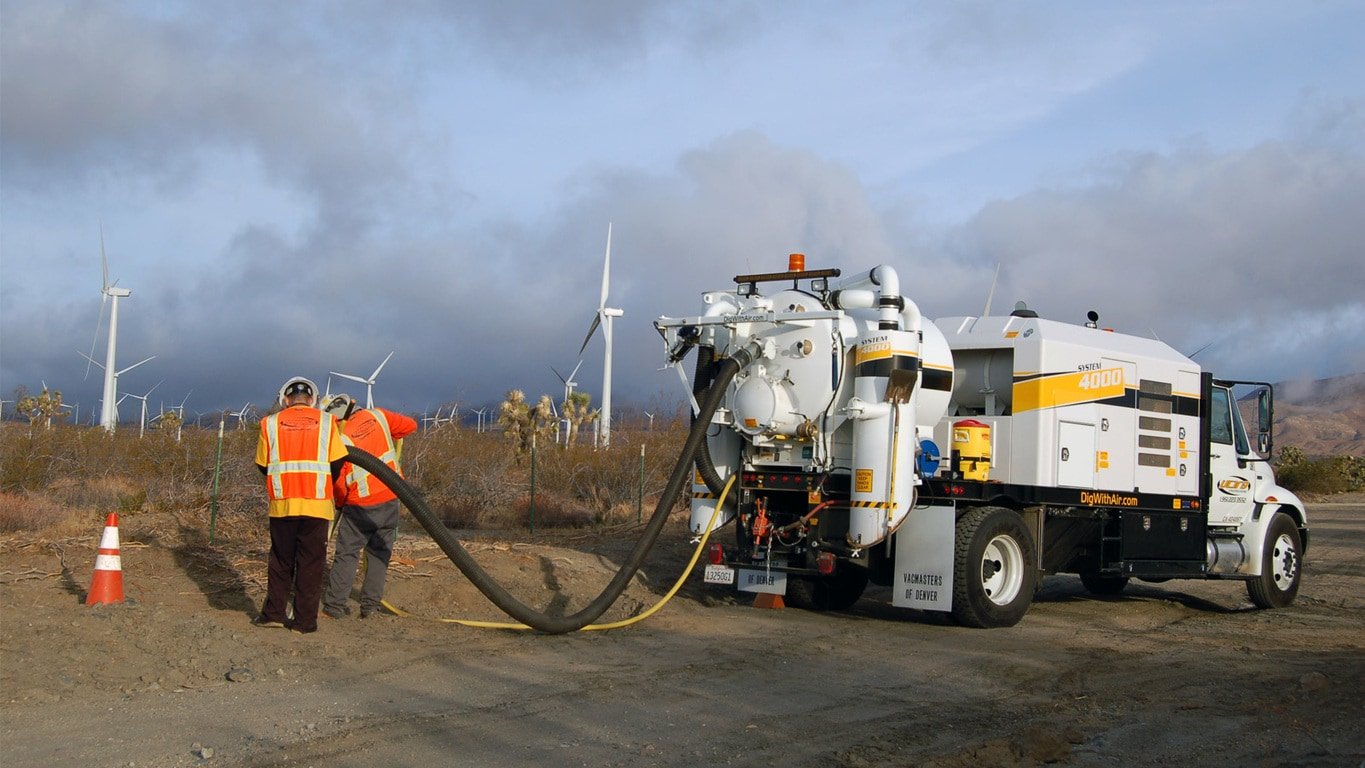Barone Vacmasters working at a wind farm