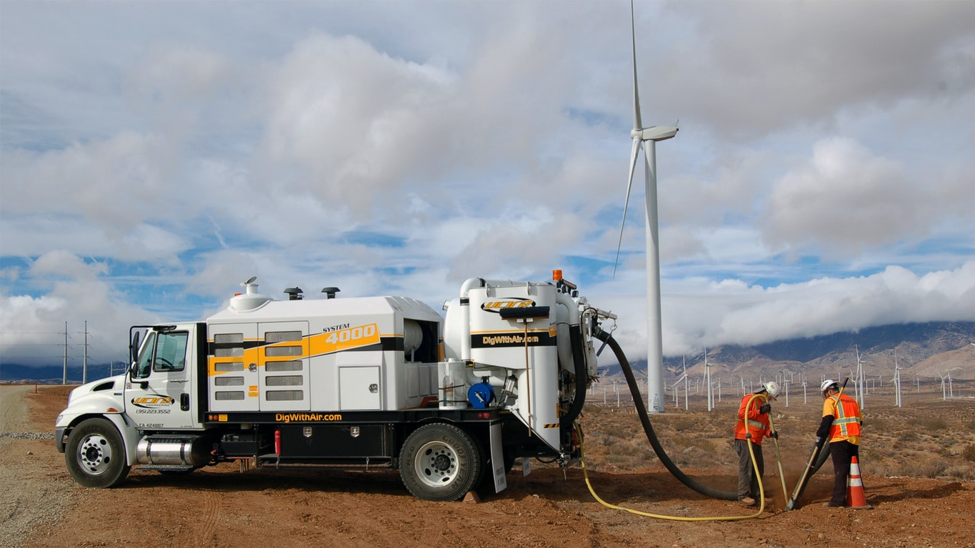 Barone Vacmasters working at a wind power site