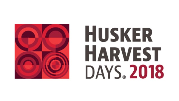 "Logo that says ""Husker Harvest Days 2018"""