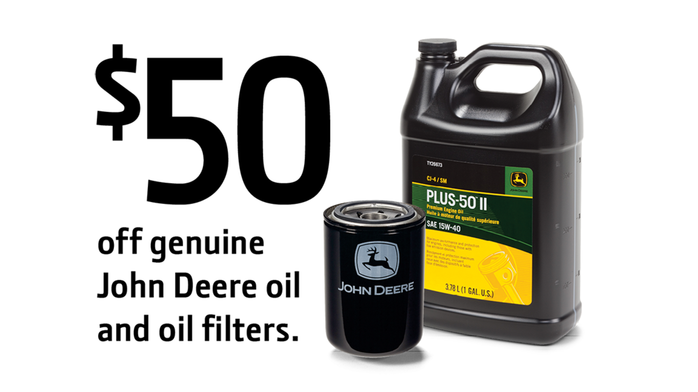 $50 off Oil and Filters Offer