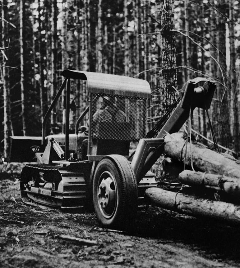 historical photo of forestry equipment
