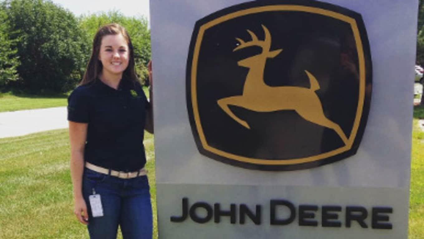 Liz, returning John Deere intern and part-time student