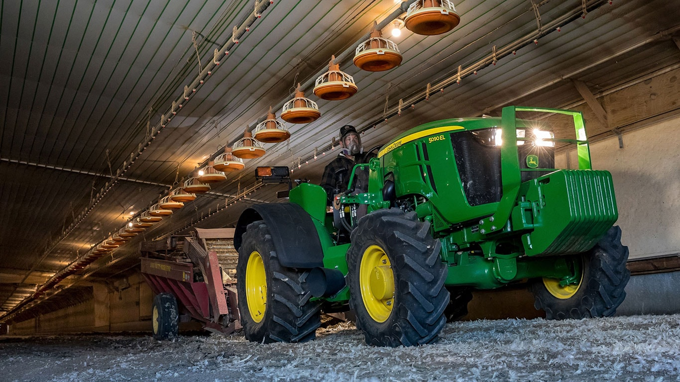 John Deere Bolsters its Low-Profile Specialty Tractor Lineup
