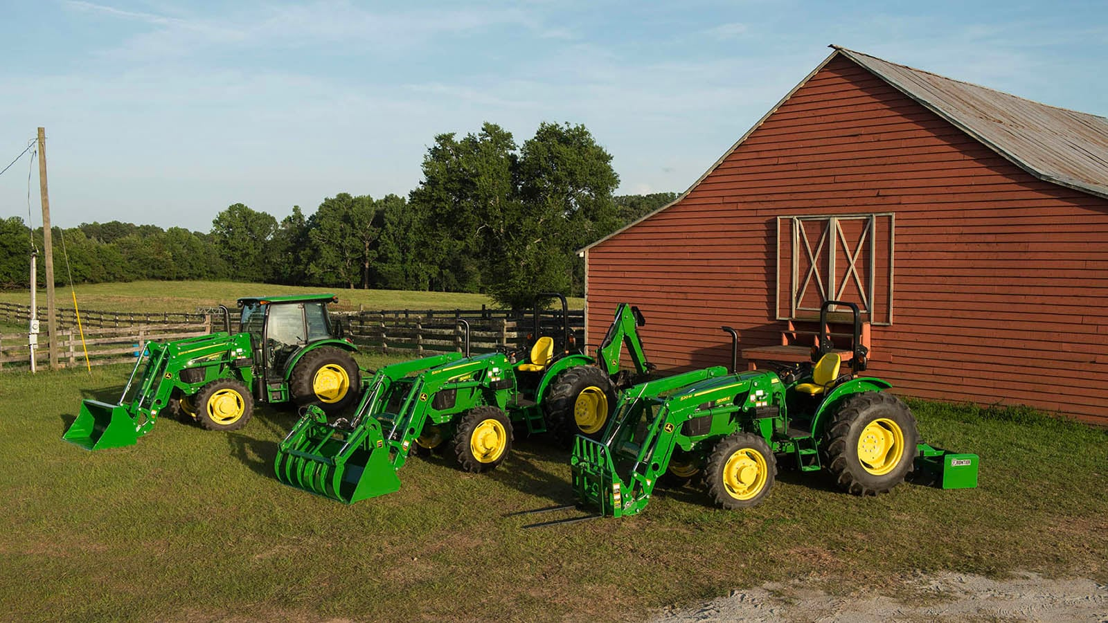 John Deere is updating its 3 cylinder versions of its 5E Series Utility Tractors for model year 2018 with four models ranging from 50-to 73-engine horsepower.