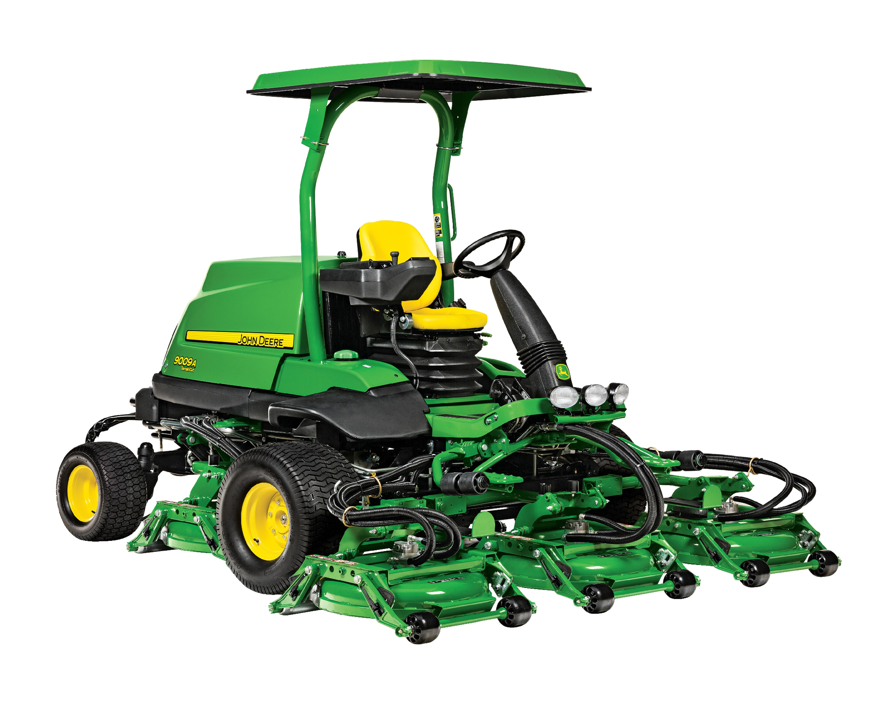 Studio sideview image of a John Deere 3025E compact utility tractor
