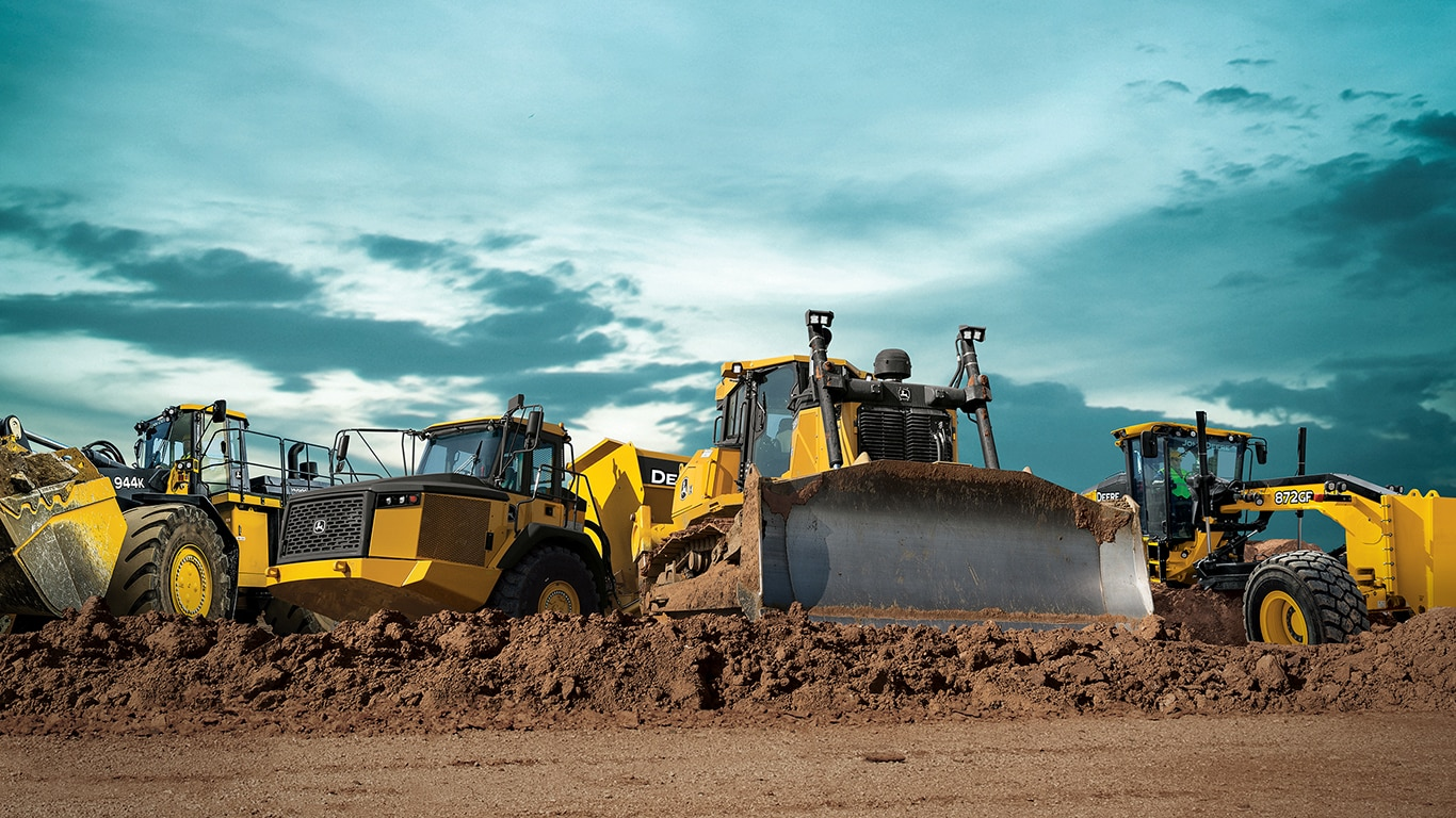 Fleet of John Deere Construction Equipment