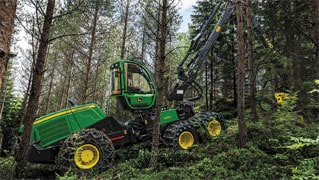 Powerful, Productive Midsize G-Series Harvesters