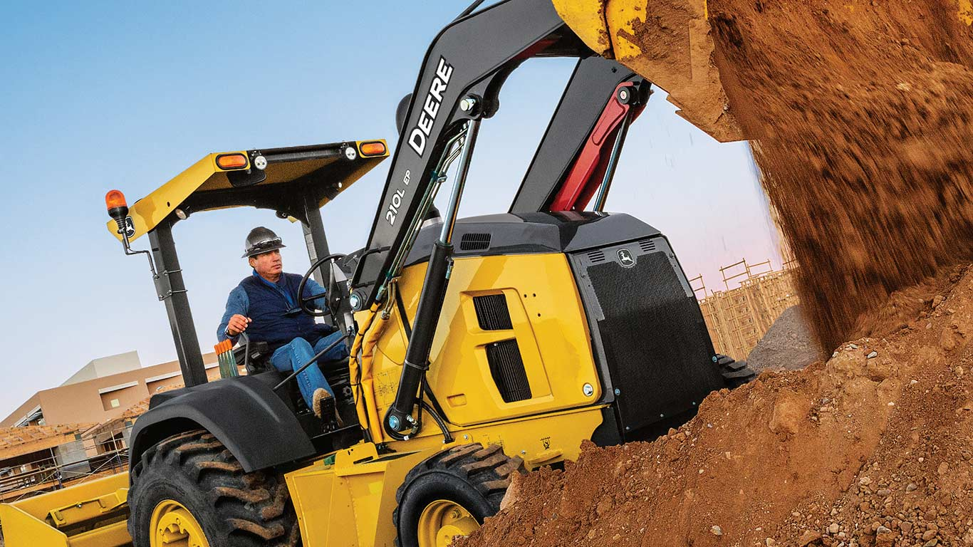 The John Deere 210L EP Tractor Loader and 310L EP Backhoe feature updates that improve productivity and uptime, and lower daily operating costs