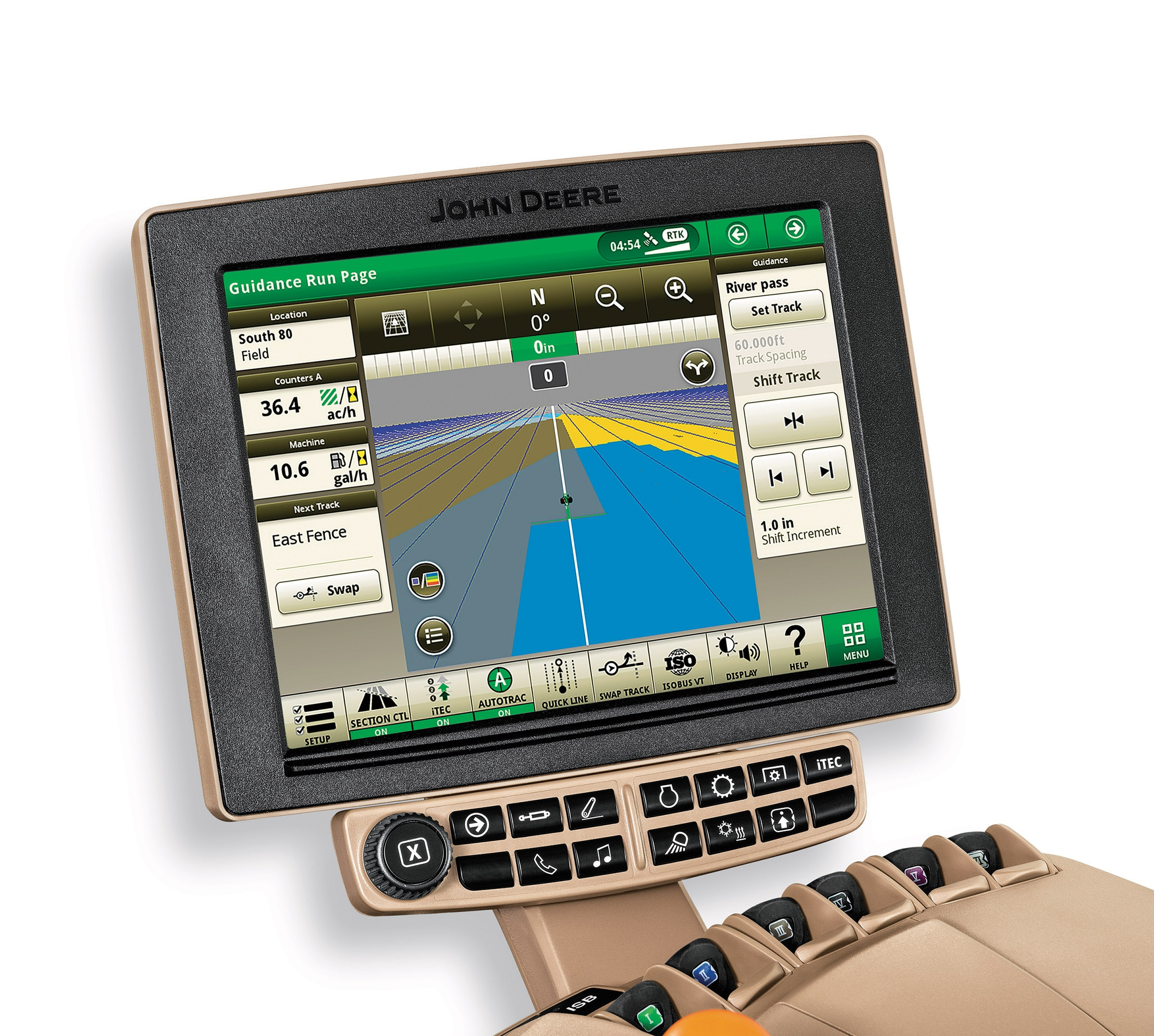 Display screen demonstrating John Deere application