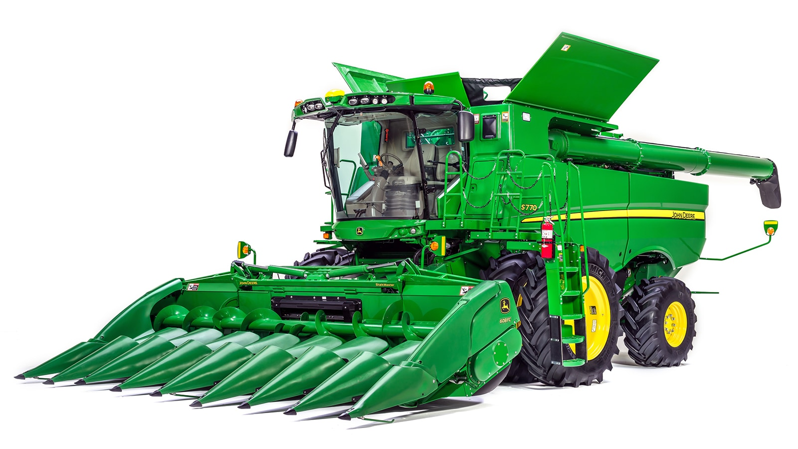 The John Deere S780 Combine features the latest automated harvesting technology and is one of four new S700 Combines introduced for model year 2018 production.