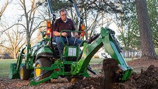 Improved Backhoe and Loader for Compact Utility Tractors