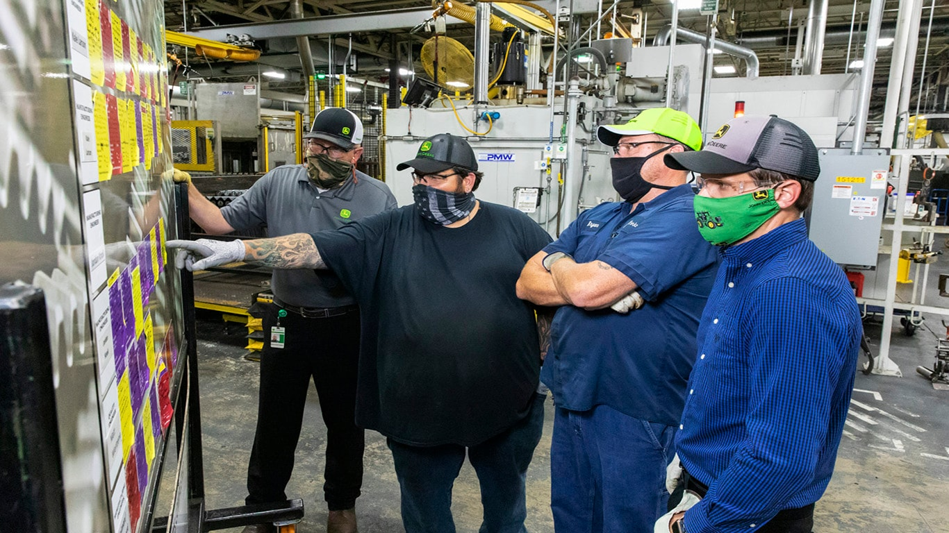 Waterloo Works employees talk about John Deere Continuous Improvement program.