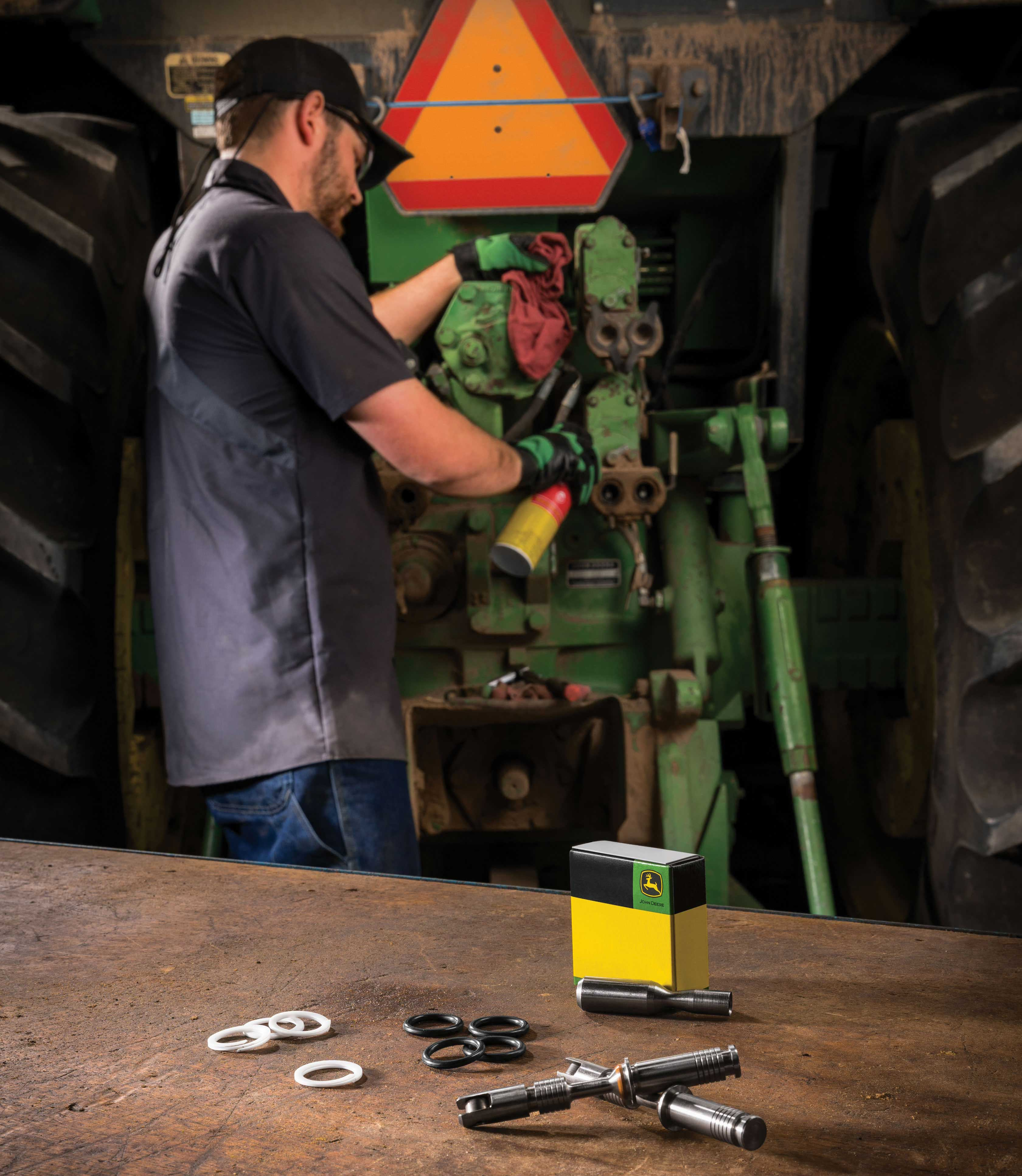 Genuine John Deere, Reman or A&I parts and attachments