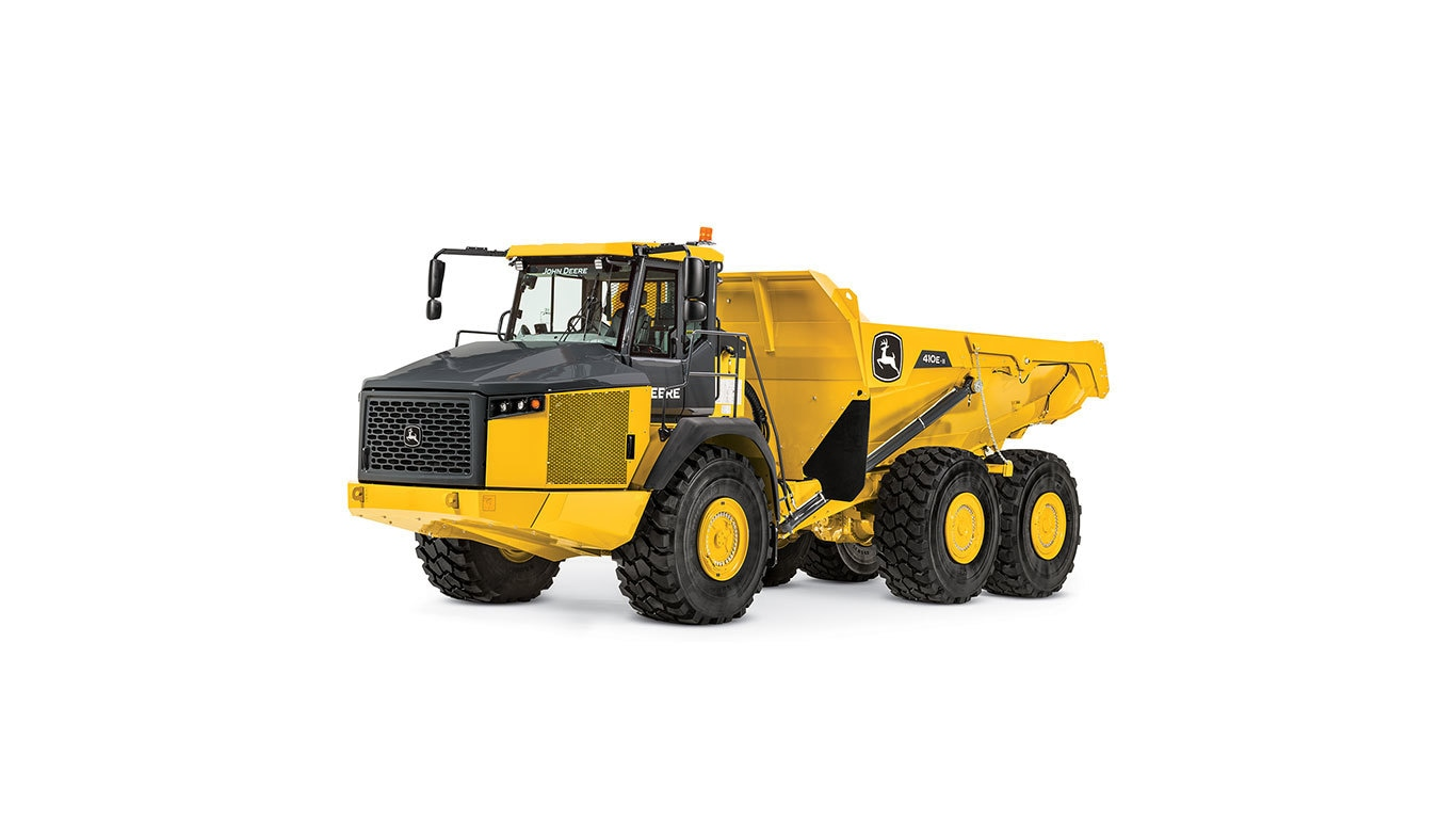 A 410EII Articulated Dump Truck studio model image on a white background