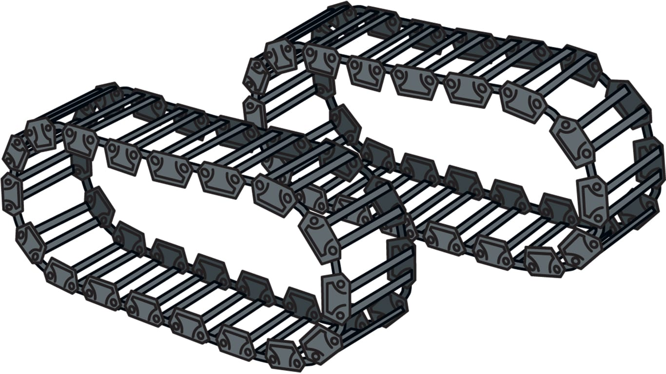 steel tracks attachment