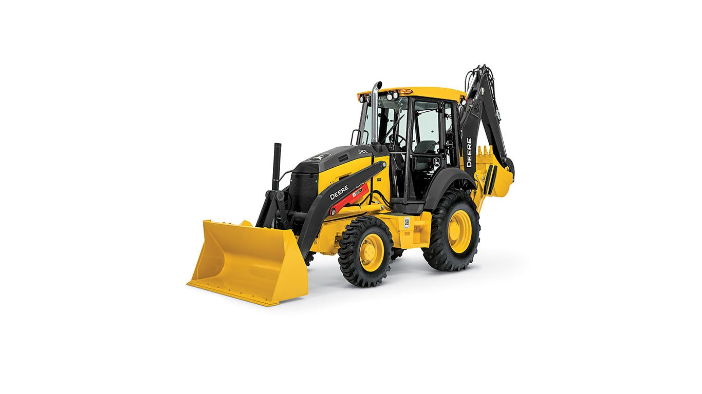 310L Backhoe with white background