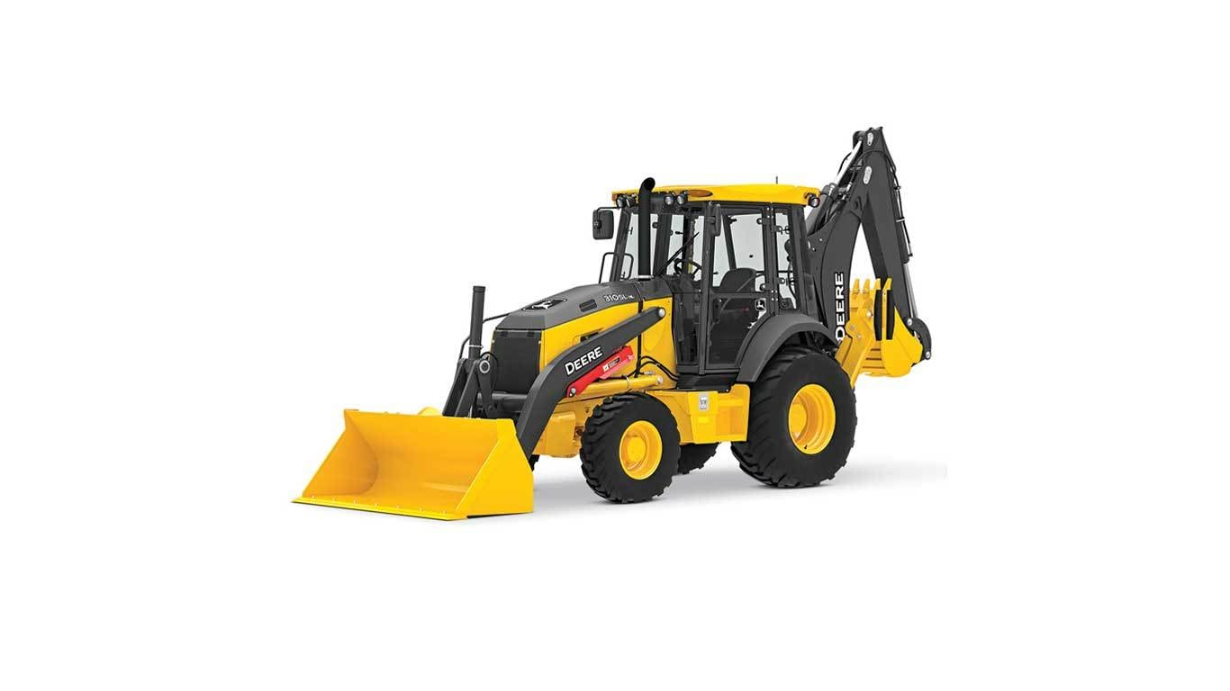 310SL HL Backhoe studio model on a white background