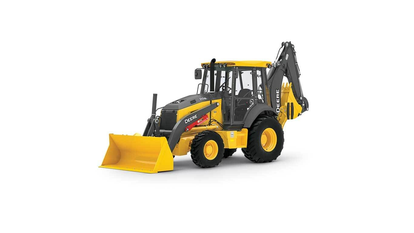 310SL Backhoe studio model on a white background