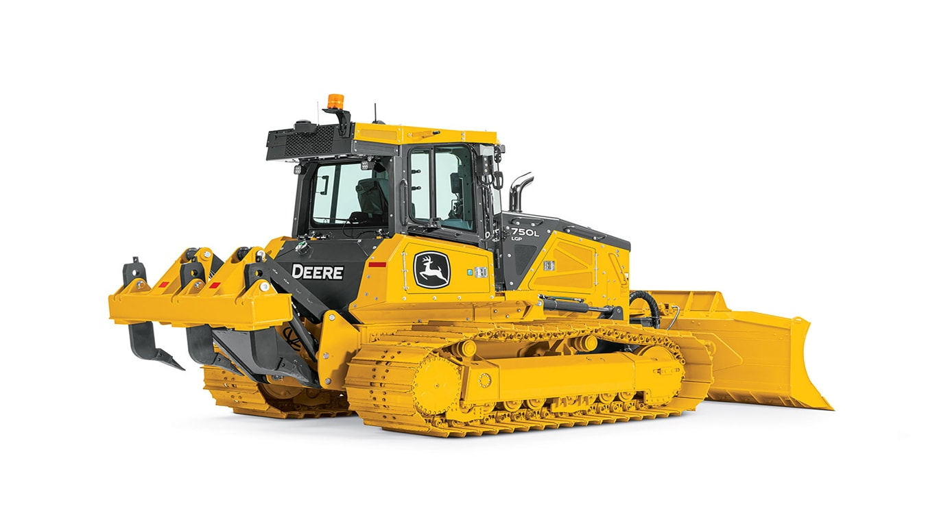 A studio image of the 750L crawler dozer on a white background