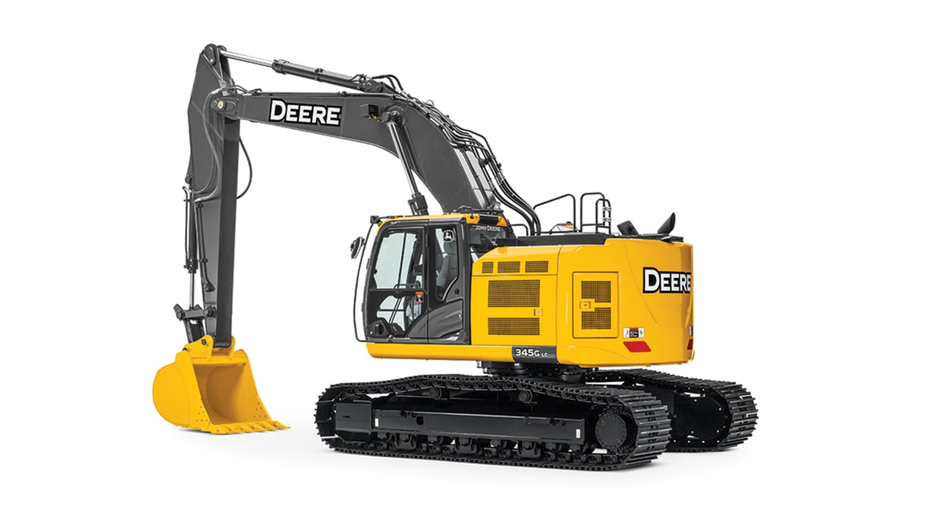 345G LC Mid-Size Excavator on white background
