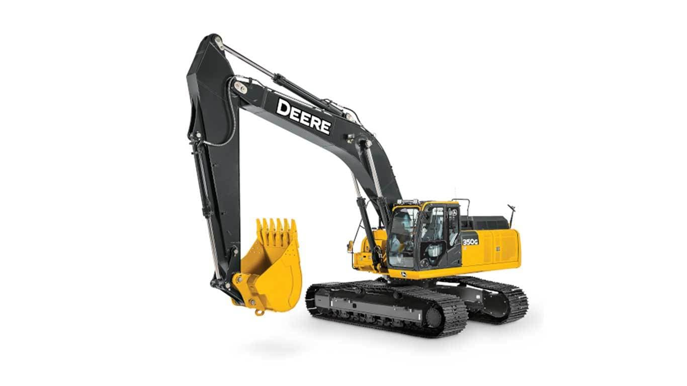 350G LC Mid-Size Excavator on a white background
