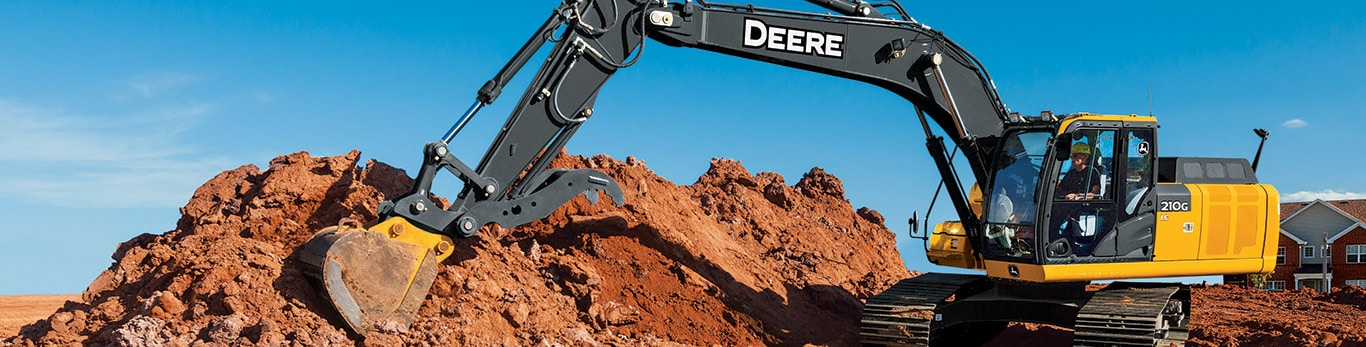 160G excavator moving dirt