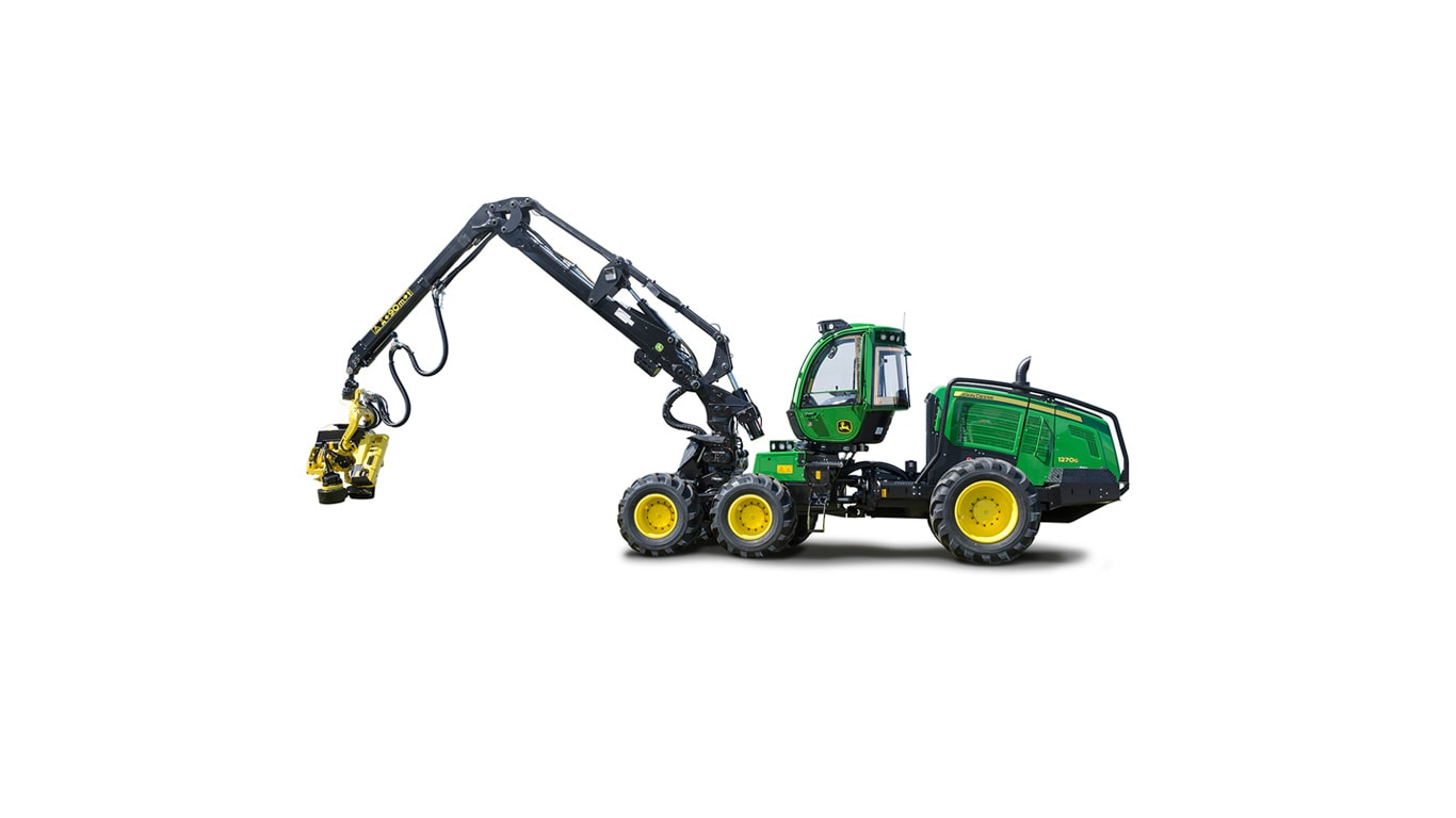 John Deere 1270G 6W model on white background