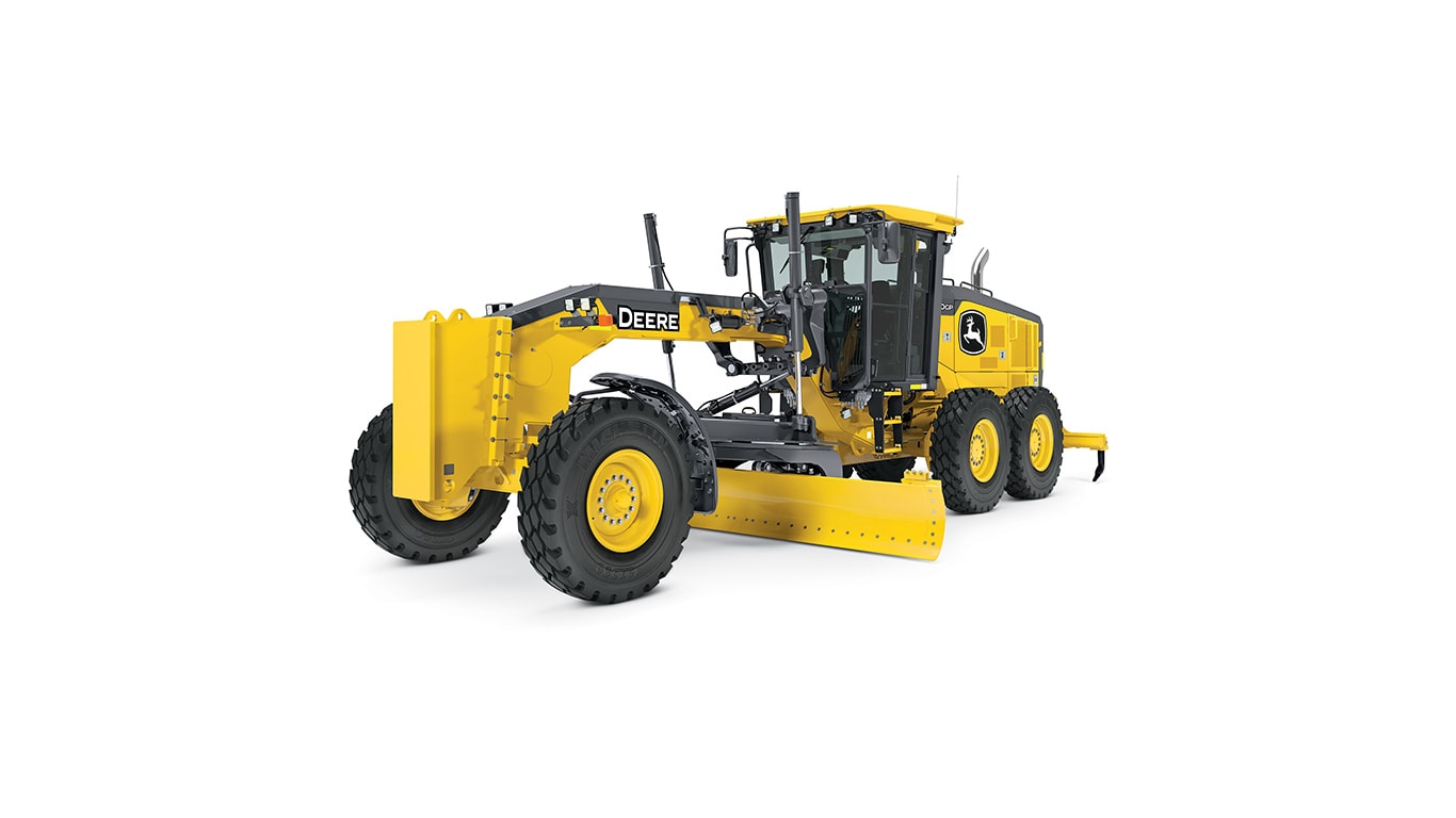 770GP motor grader on white background