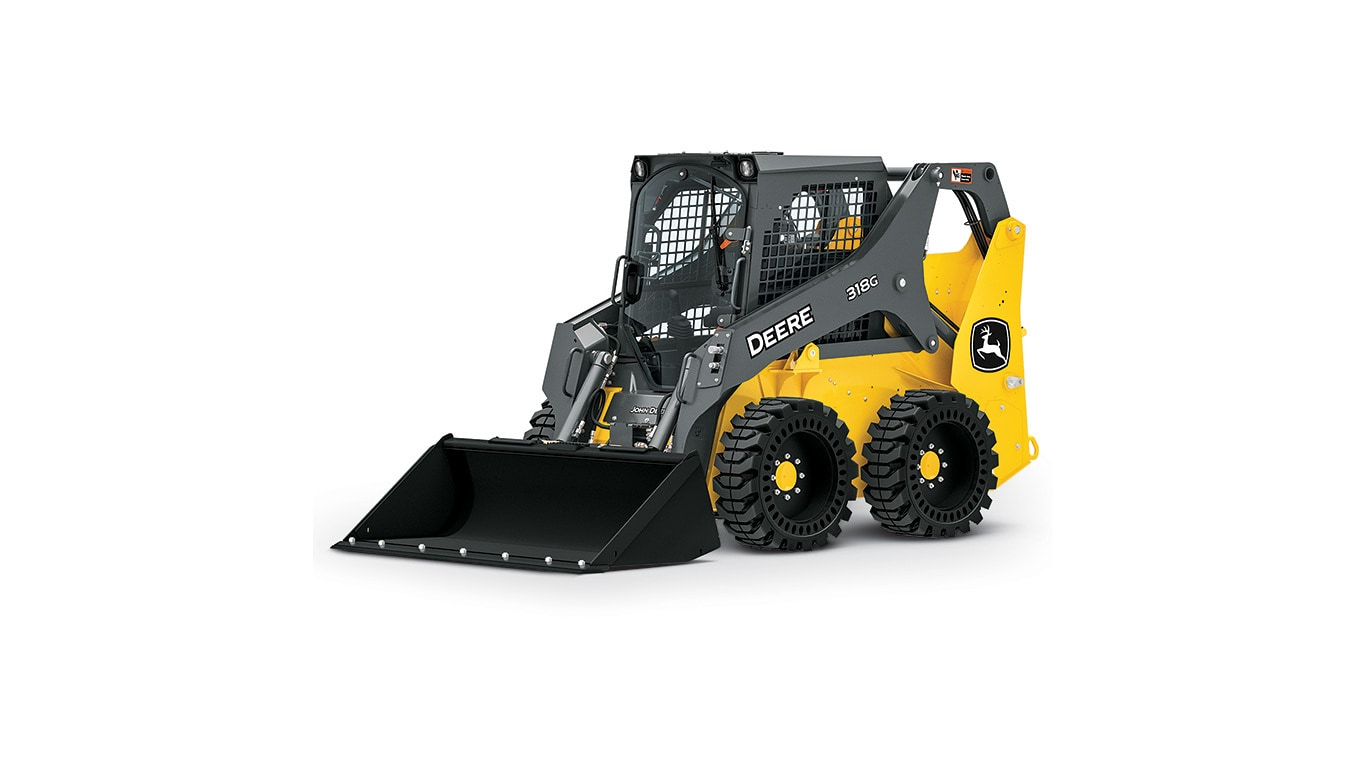318G Skid Steer model on white background