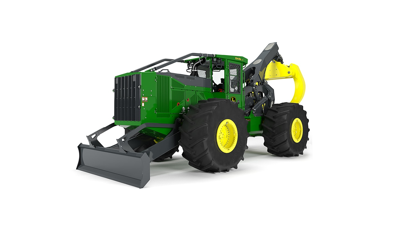 848L-II Skidder model on white background