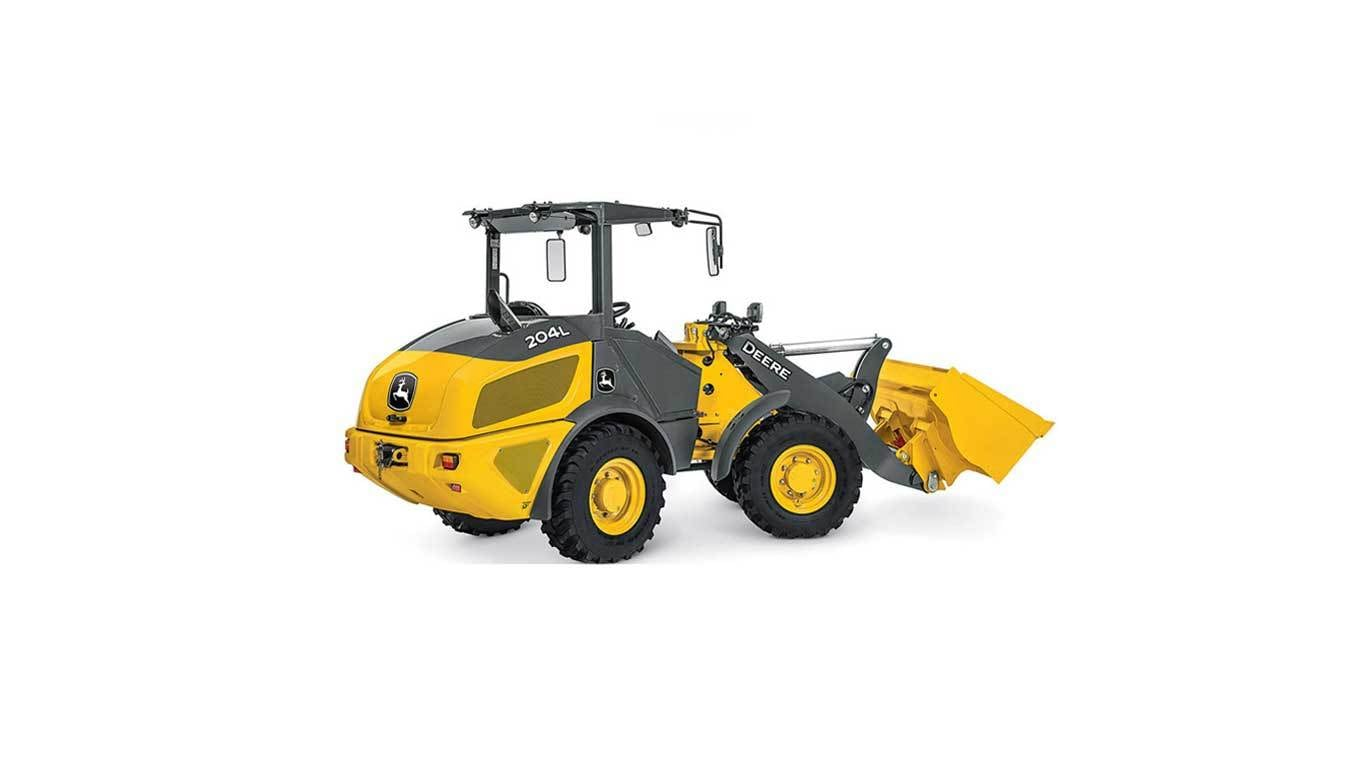 204L Compact Wheel Loader on a white background