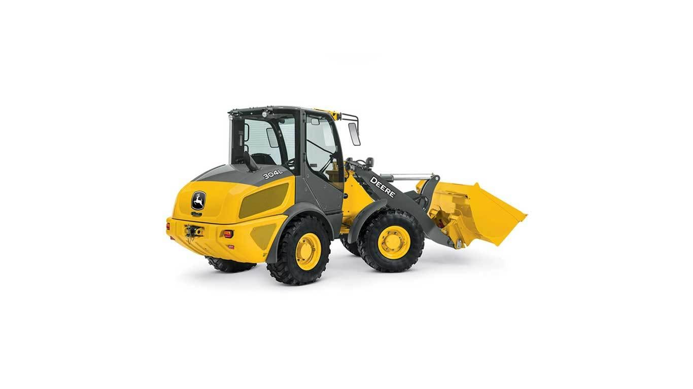 304L Compact Wheel Loader on a white background