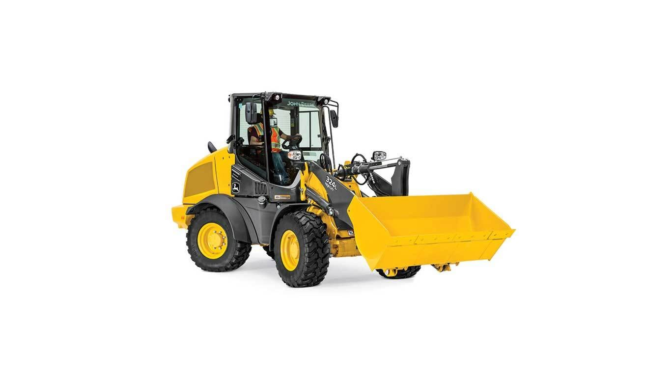 324L Compact Wheel Loader on white background