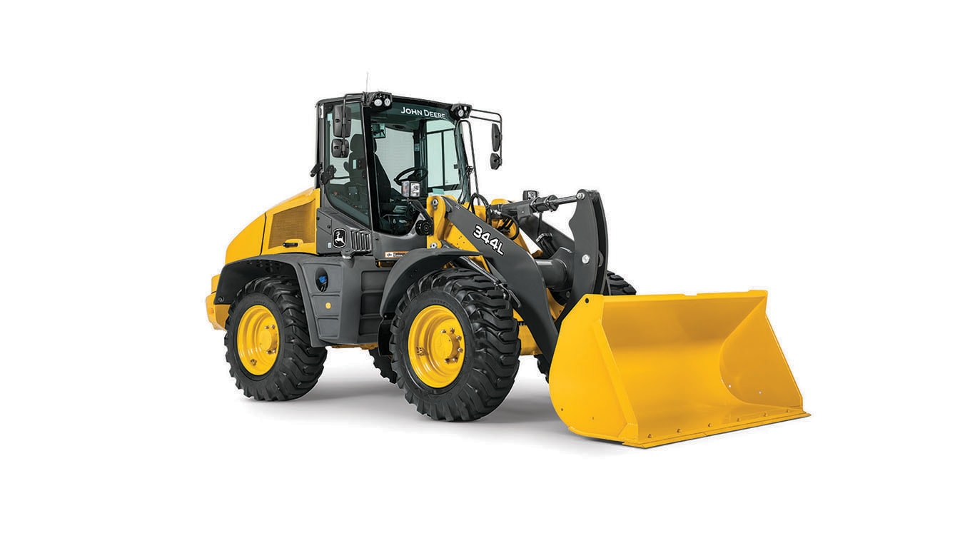 Studio shot of the 344l wheel loader