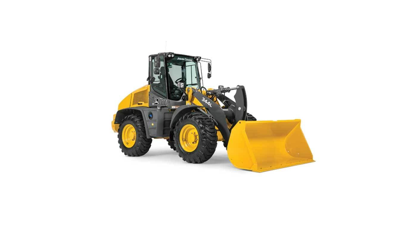344L Compact Wheel Loader on a white background