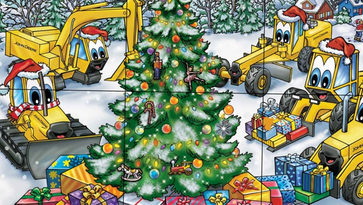 john deere christmas coloring pages - photo#35
