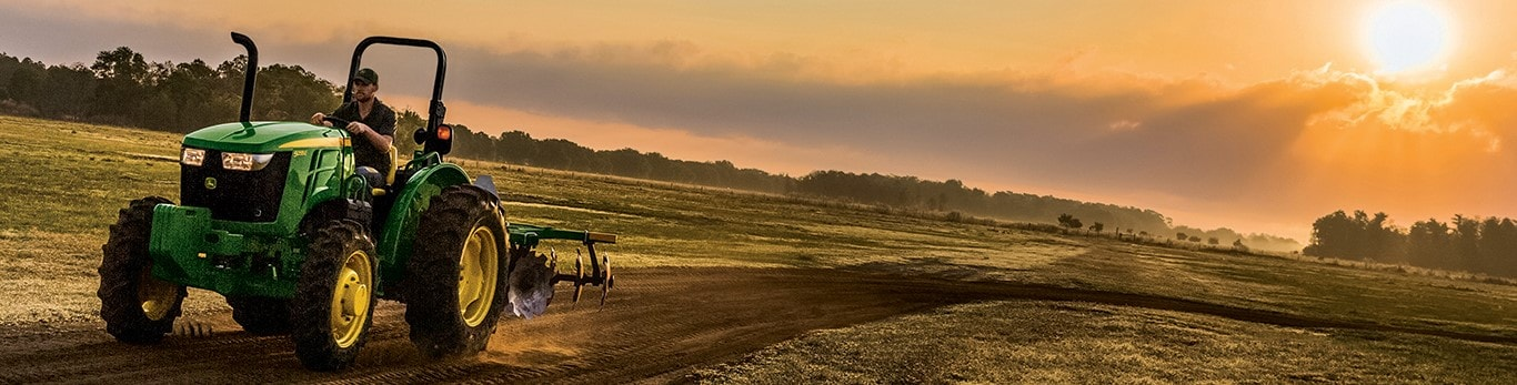 John Deere Tractor In Field