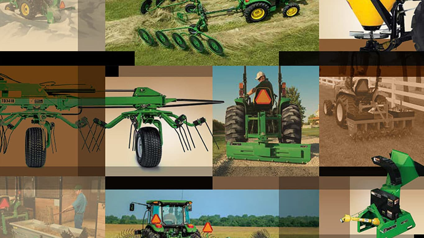 collage of frontier implement images