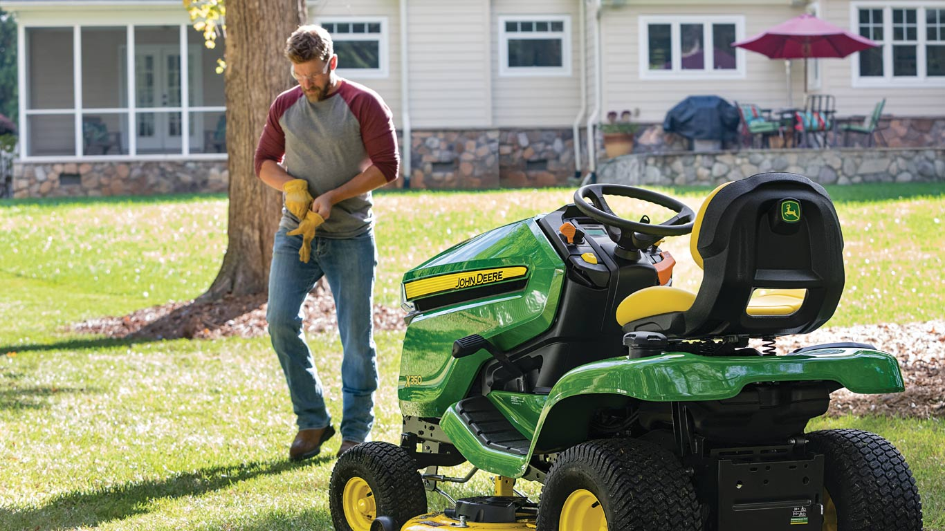 X350 Riding Lawn Tractor in residential setting