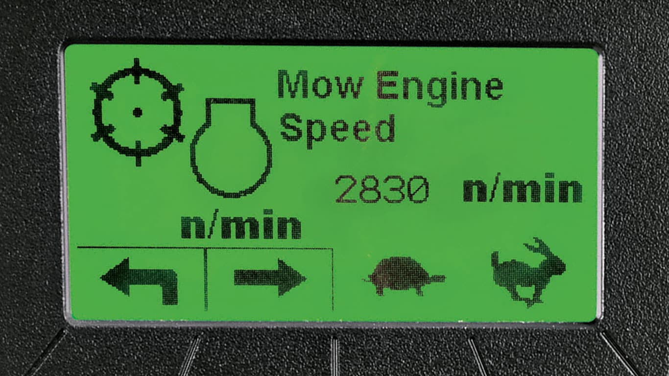 mow engine speed screen