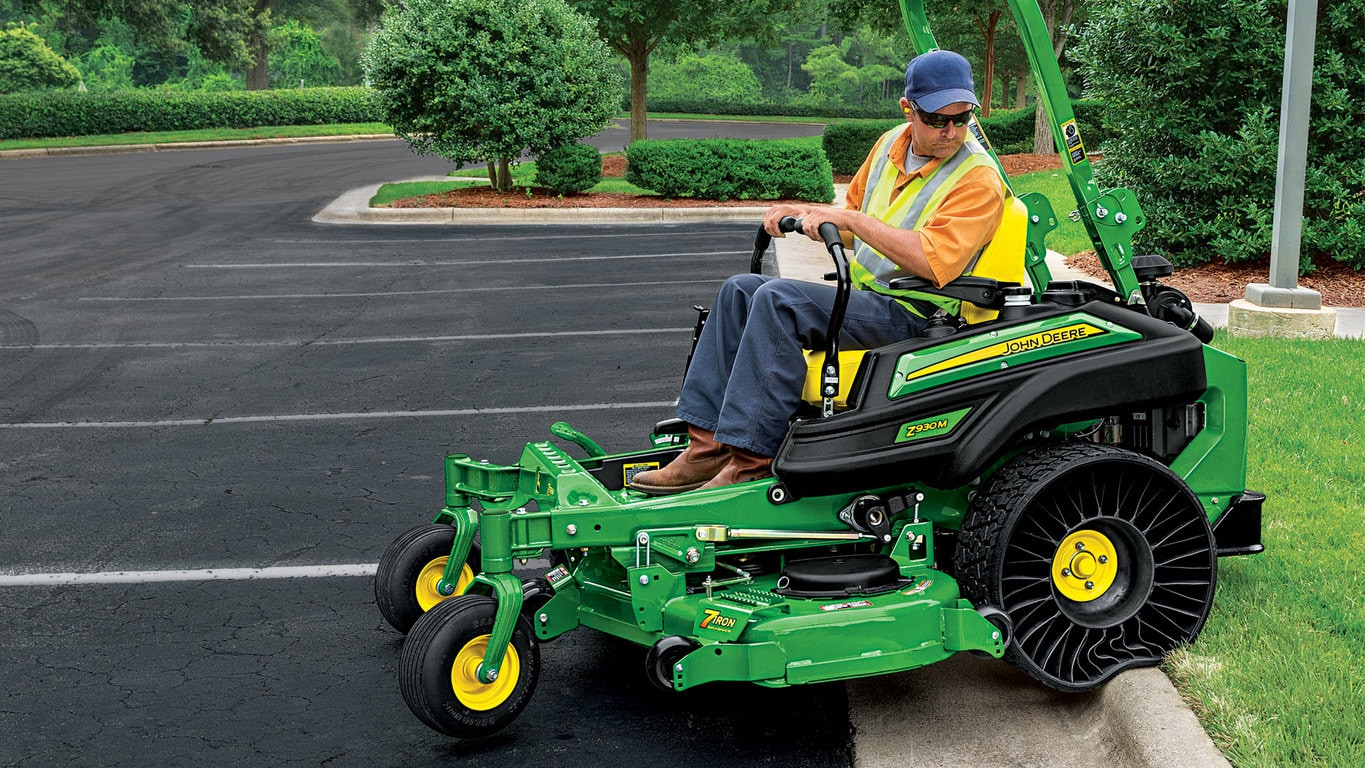 The MICHELIN X TWEEL Turf is exclusively for select ZTrak™ and QuikTrak™  Mowers*