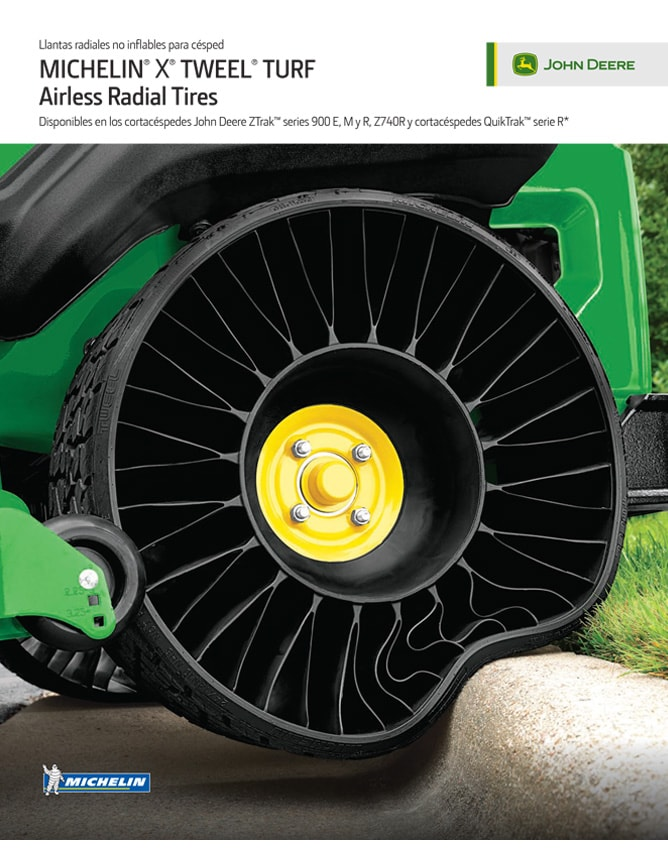 Especificaciones: MICHELIN® X® TWEEL®Turf Tire