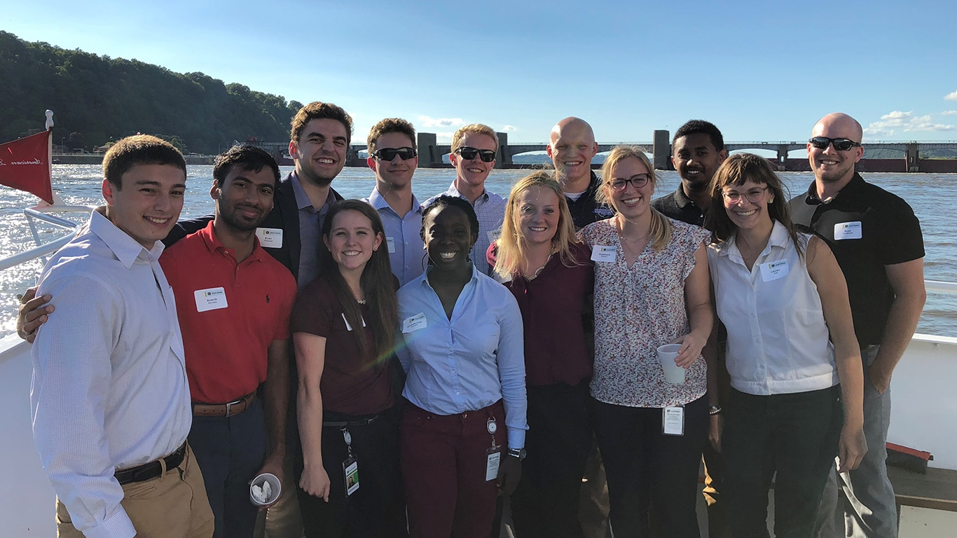 Dubuque Intern Boat Cruise