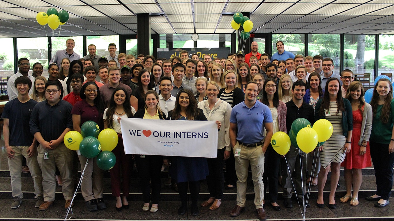 Quad-Cities interns celebrating National Intern Day