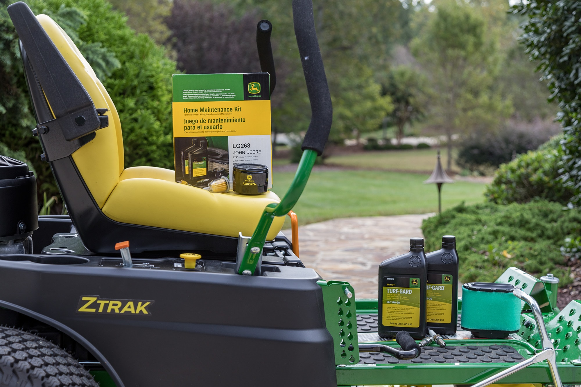 Home Maintenance Kit on a Ztrak Mower