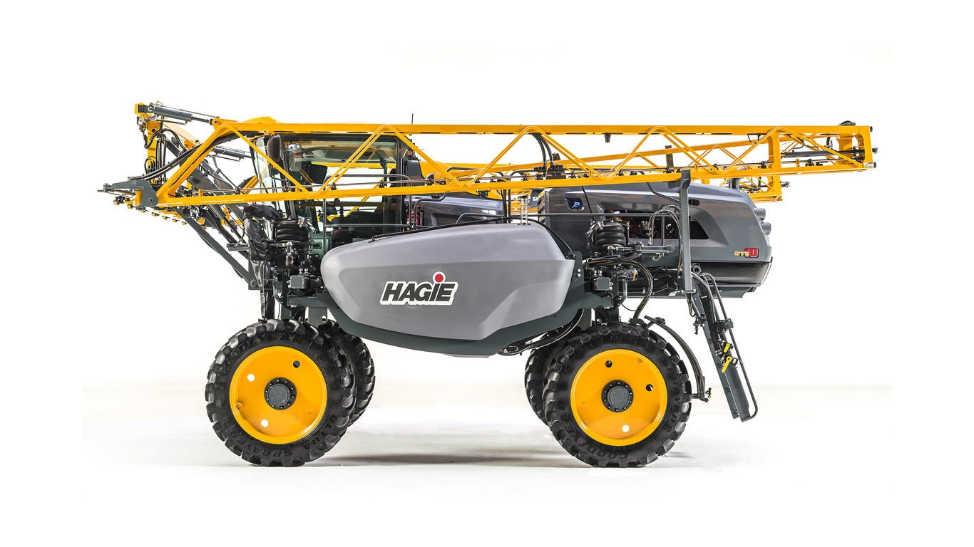 studio profile view of a DTS10 Haige Sprayer