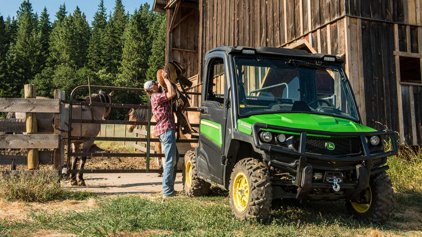 Gator XUV on farm