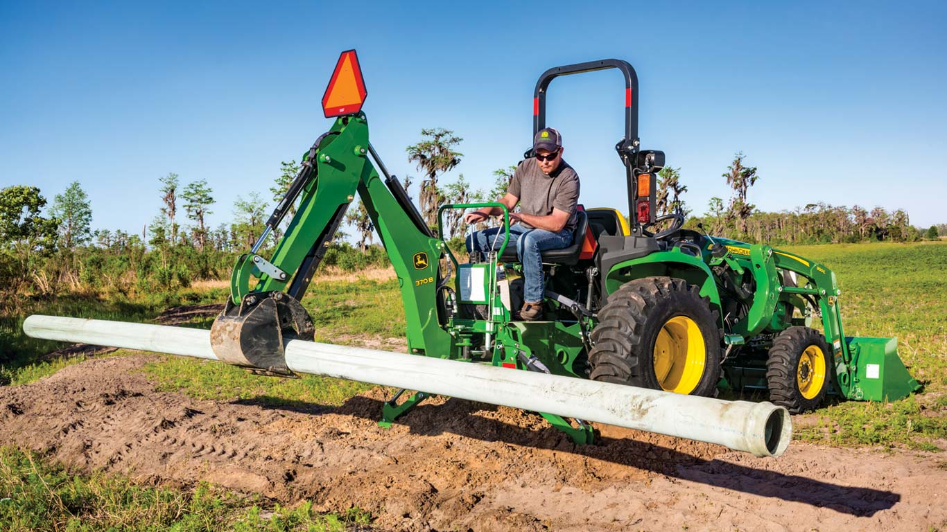 John Deere Backhoe Attachment >> Backhoes For Compact And Utility Tractors