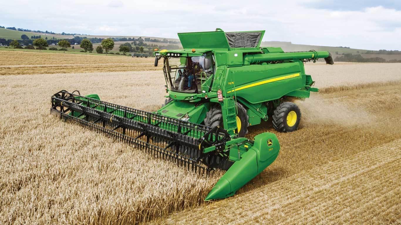 John Deere Combine >> Grain Harvesting T670 Combine John Deere Us